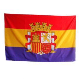 Bandera republicana con escudo 150×90 cm
