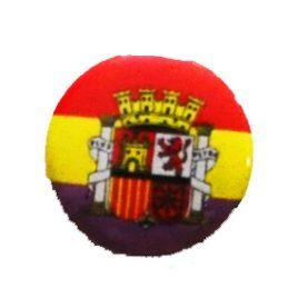Chapa republicana con escudo