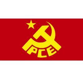 Bandera del PCE con estrella de cinco puntas