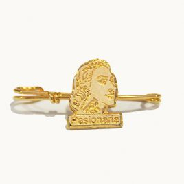 Broche dorado de Dolores Pasionaria