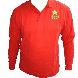 Polos Rojo manga larga CCCP