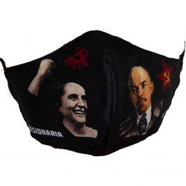 Mascarillas Pasionaria y Lenin