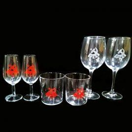 6  Catavinos – 6 Vasos de Cervezas – 6 Copas de Vino