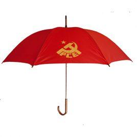 Paraguas Rojo con logo PCE